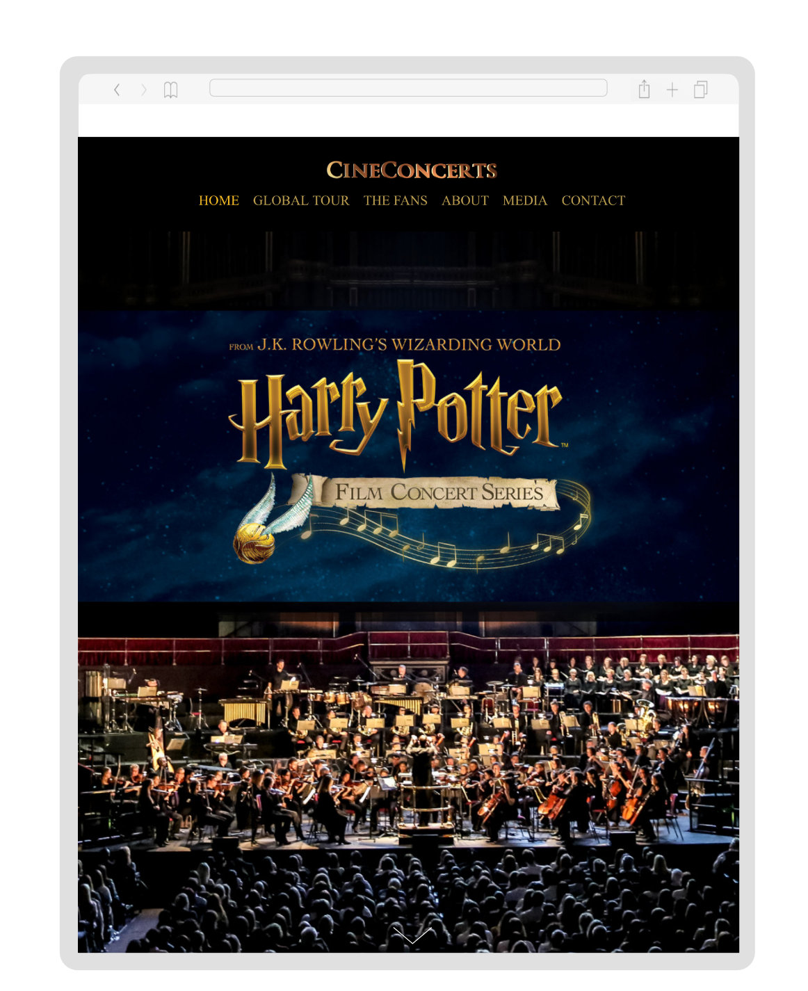Harry Potter in Concert - Website Design & BuildMapping App for the global tour
