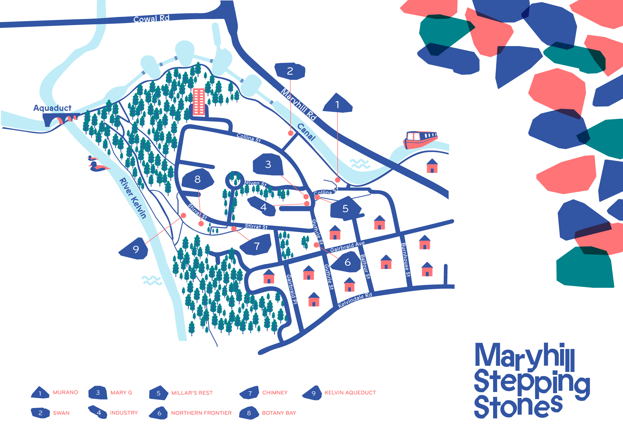 Image of the Maryhill Stepping Stones Map