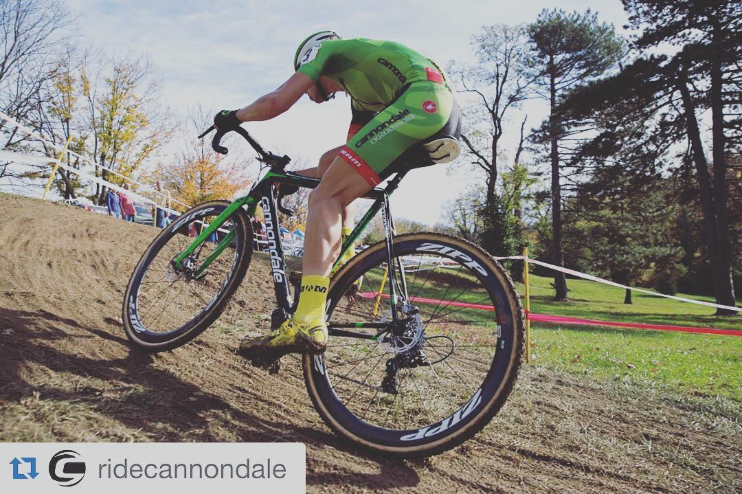 #Repost @ridecannondale  ・・・  Flashback to racing in short sleeve skin suits under blue skies. This weekend @cdalecxworld will descend upon the Cyclocross World Championships in Zolder, Belgium. Rain in the forecast could mean that a technical and muddy course lie ahead.  http://ift.tt/1nUhyOg