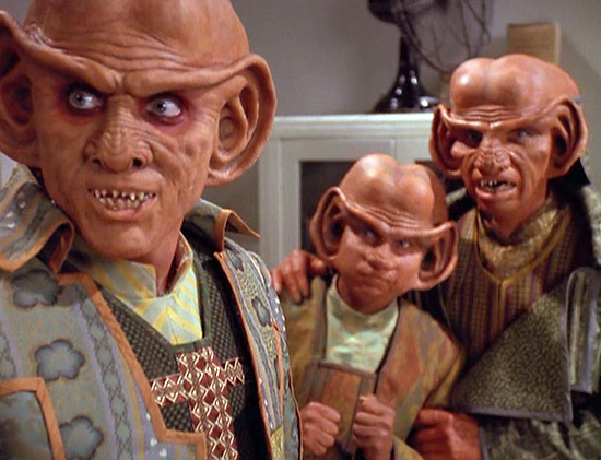 Mankind's first face-to-face encounter with aliens was with Ferengi, not Vulcans.