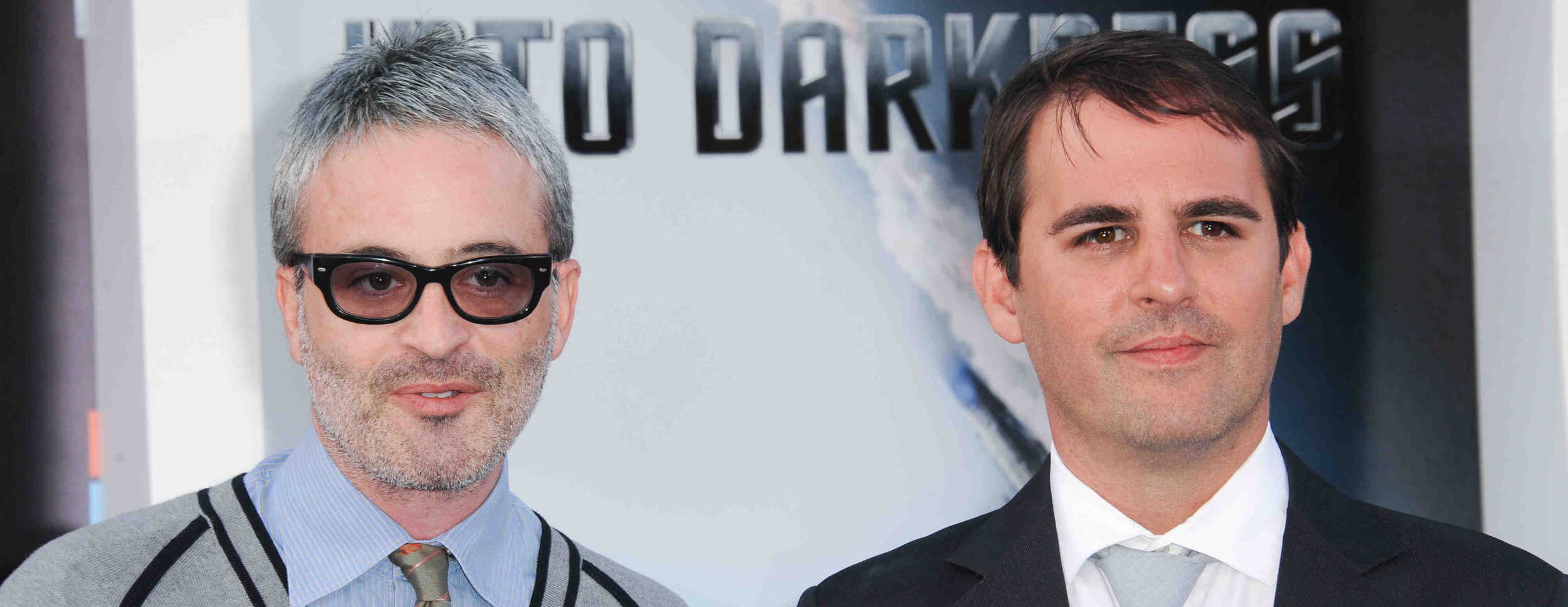 Alex Kurtzman and Roberto Orci at the Star Trek Into Darkness premiere on May 15, 2013 in Hollywood. Photo credit: TrekMovie.com.