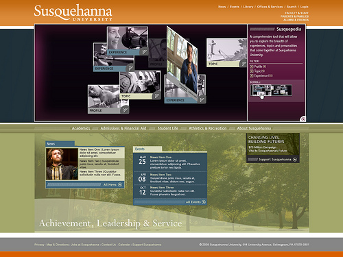 Susquehanna University design concept