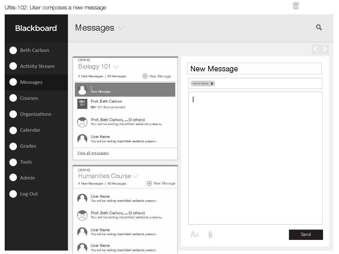 LMS In-App Messaging System