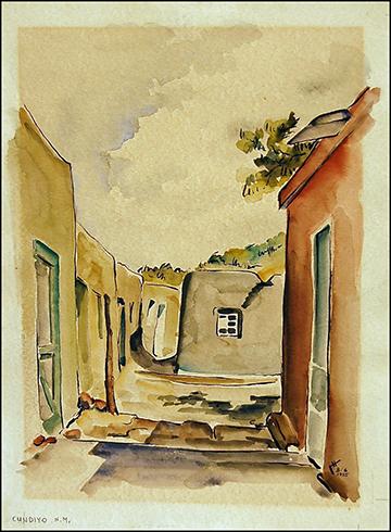 Cundiyo - NM 16 x 20 watercolor