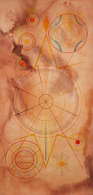 "Altair - Inks on burnished paper - 80.25"" x 43.25"" - 2013"