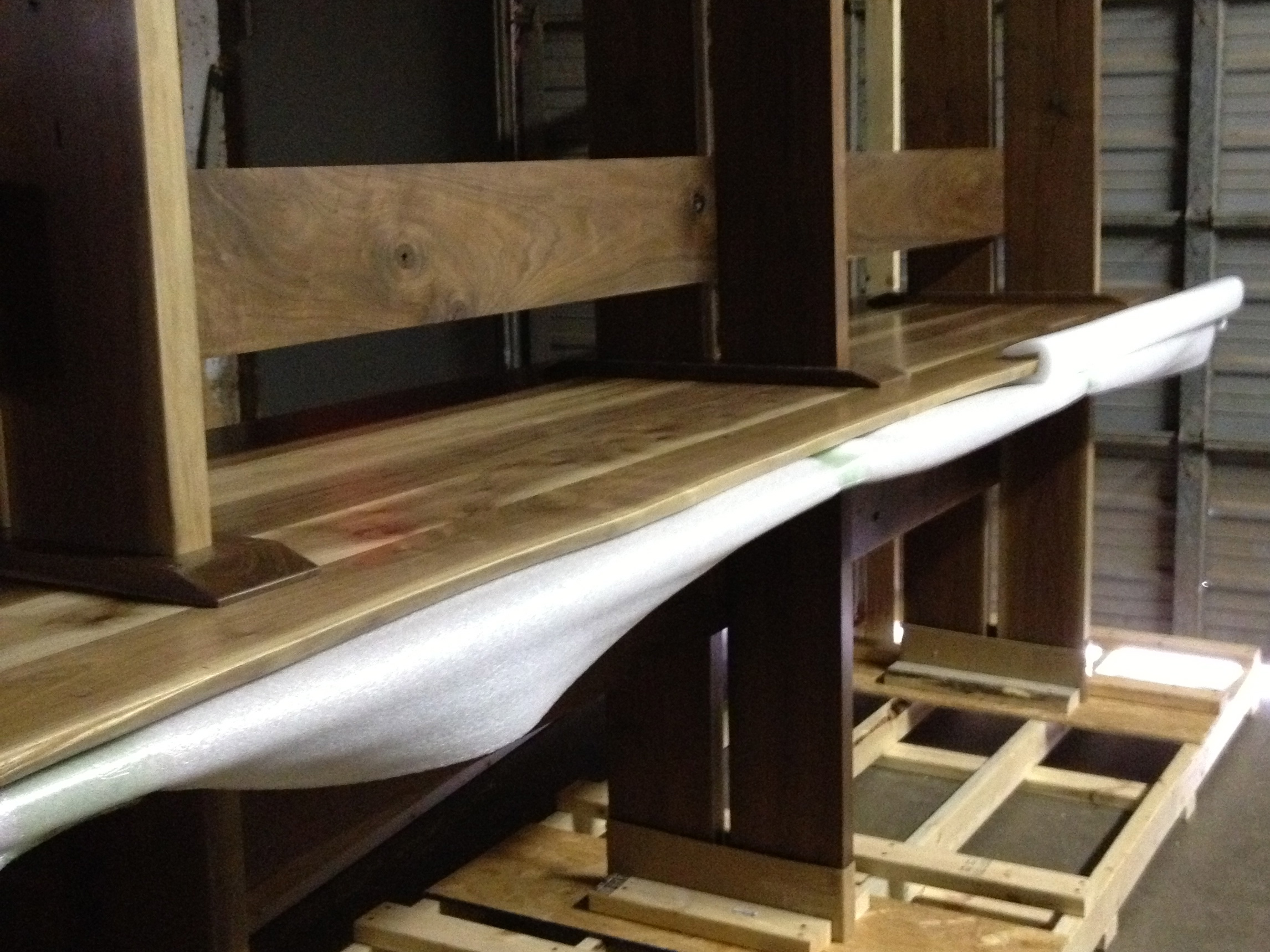 4 12' dining tables shipped to