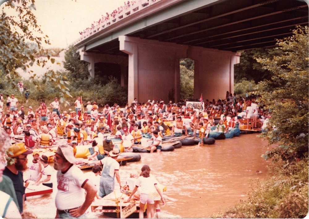 The Great Cypress Creek Raft Race was a local event that Dad and I began instigated beginning in 1978.
