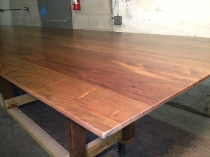 12' walnut conference table