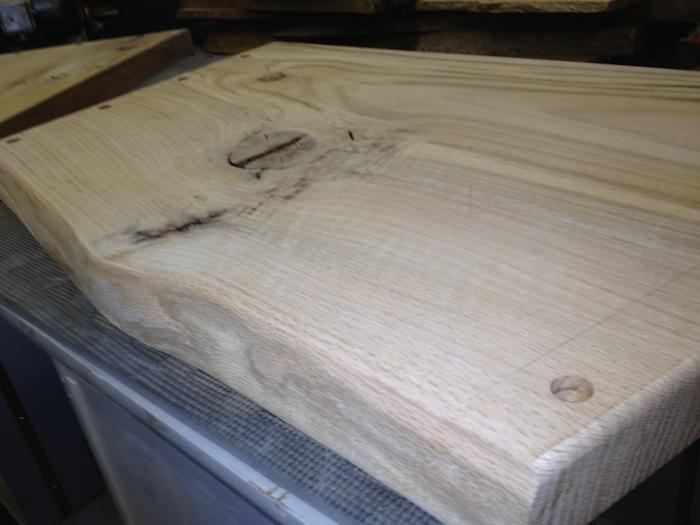 Oak bench seat