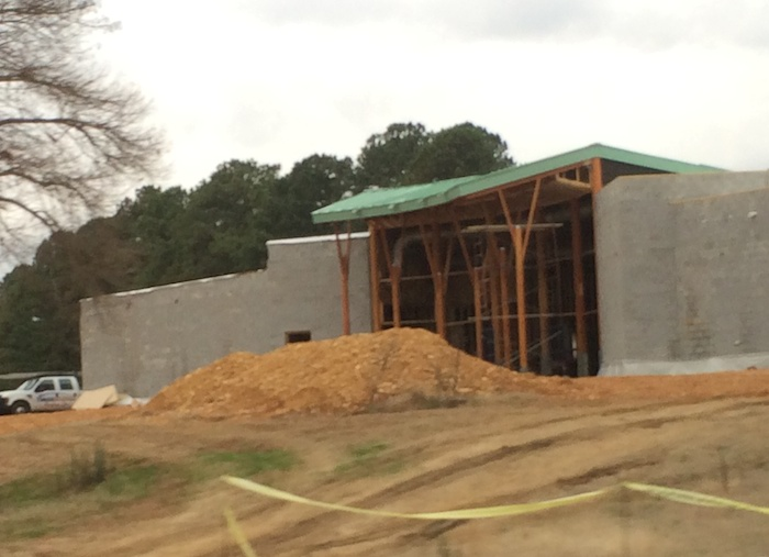 Florence/Lauderdale County Tourism building in progress.