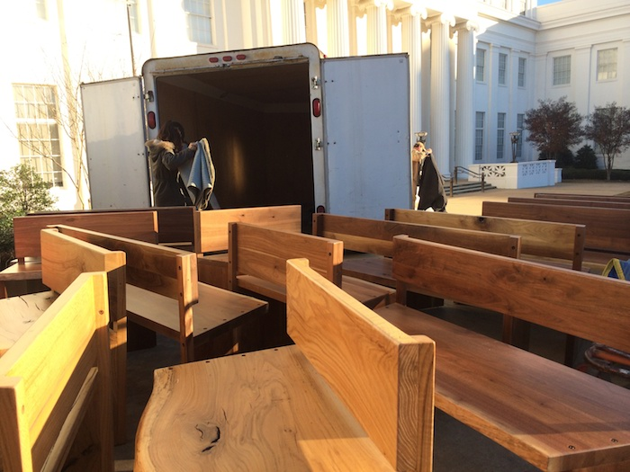 walnut benches to be installed in Museum of Alabama - Montgomery.