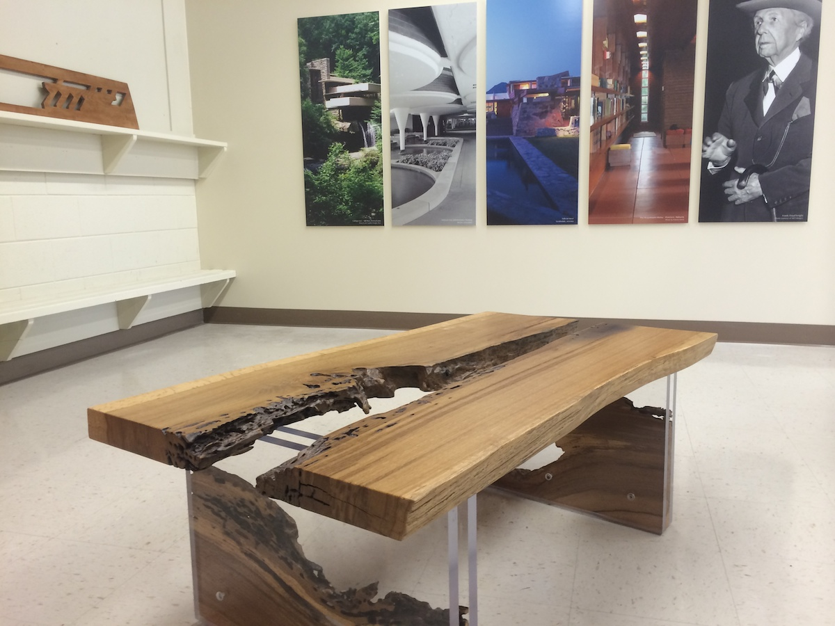 Above is a pic of the Phil Campbell table presently showing (for a few more days) at the Frank Lloyd Wright designed / Rosenbaum Museum - downtown Florence.