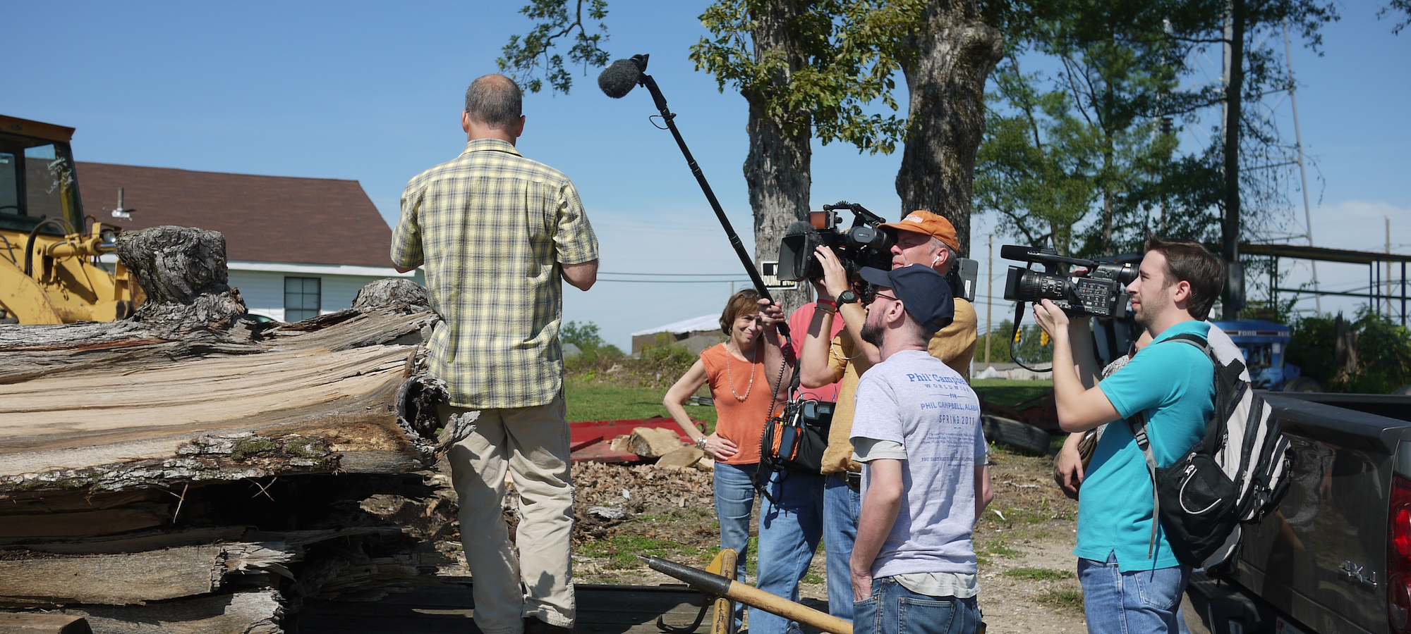 "2011 - Oprah film crew documenting ""Tree to Table"" fund raising efforts."