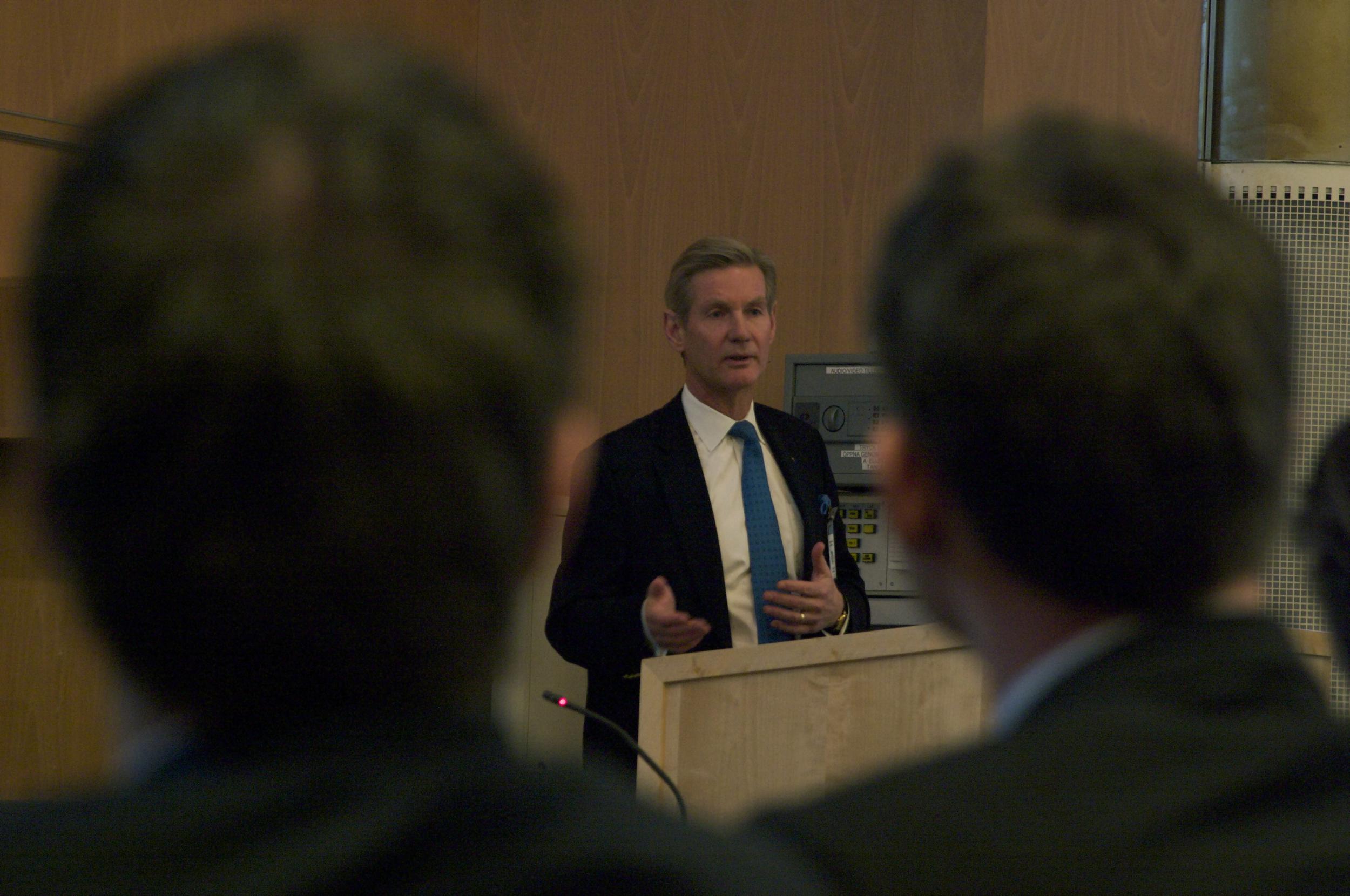 Gunnar Brock under KJV:s konferens om civilt meritvärde på Karlberg 2009