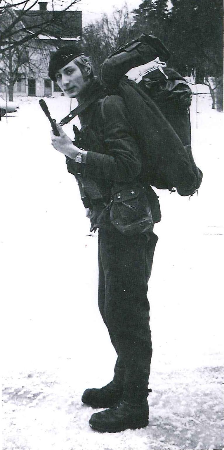 Peter Gröndahl med trosspackning m/71. Foto: Peter Gröndahl