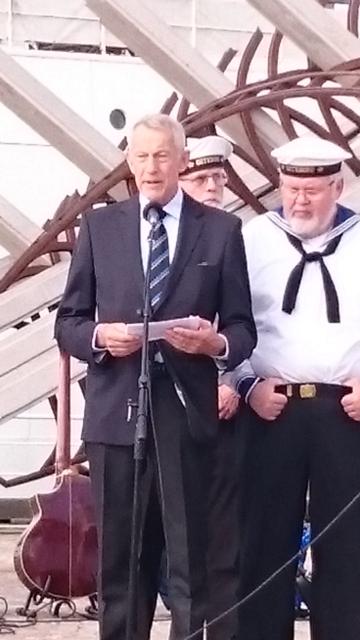 Nils-Ove Jansson håller tal till krigsseglarnas minne 2016