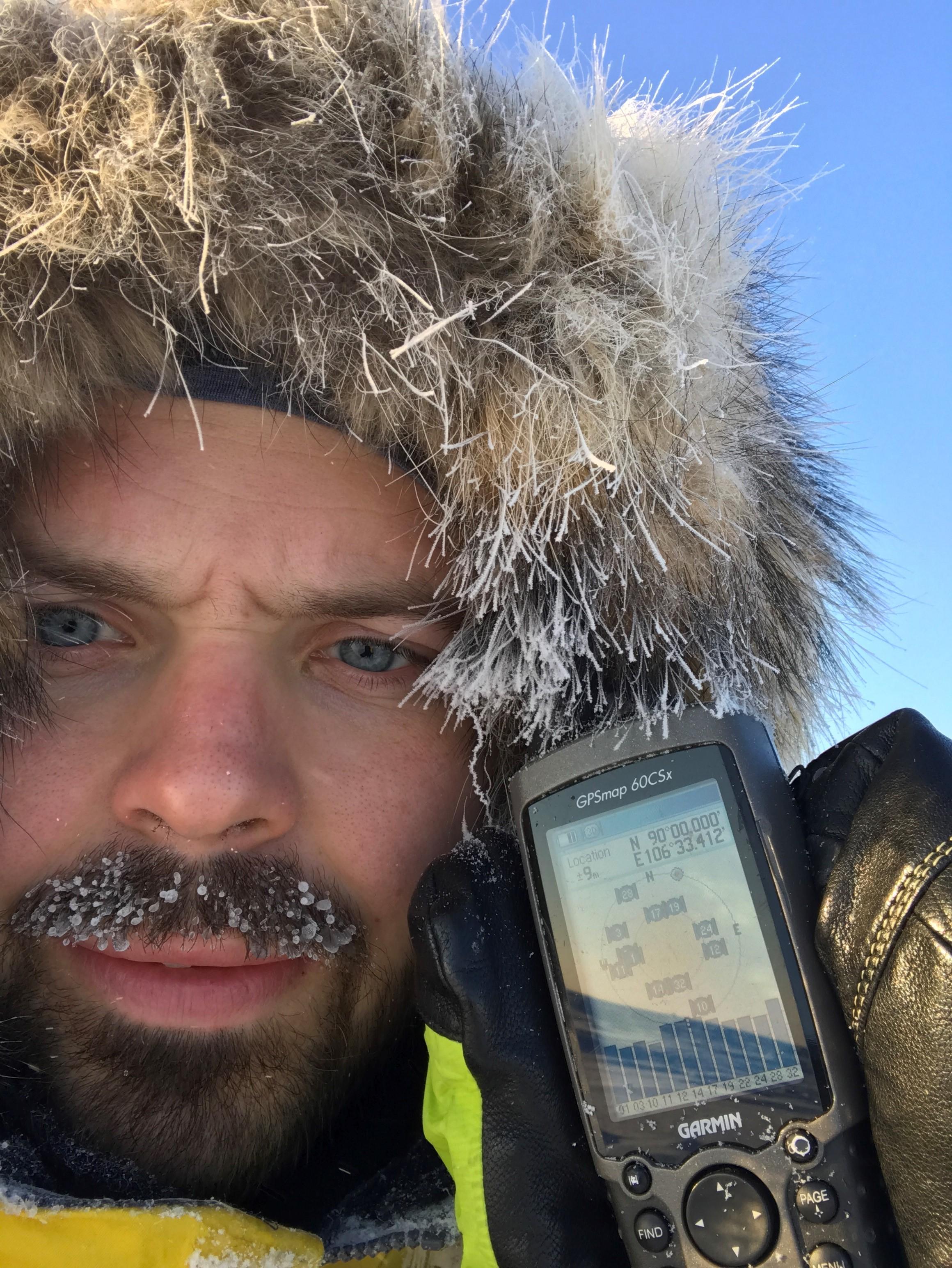 Mikael Karlsson på nordpolen