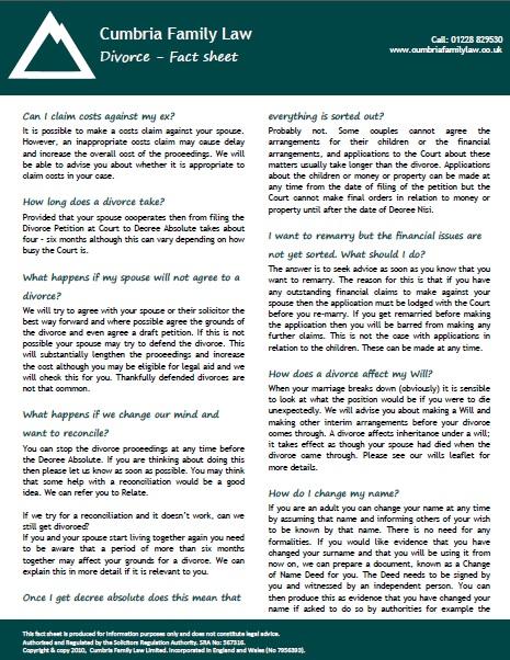 Parental responsibility - fact sheet