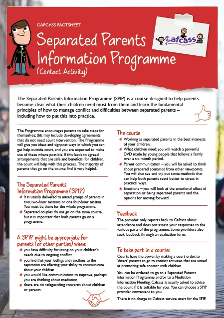 separated parents information programme - fact sheet