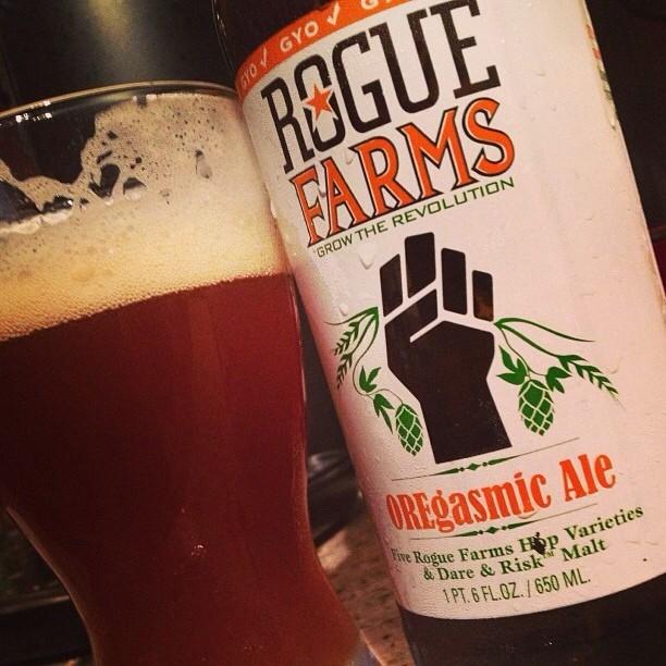 Rogue Farms Oregasmic Ale v´â @nataliaperez8 en Instagram