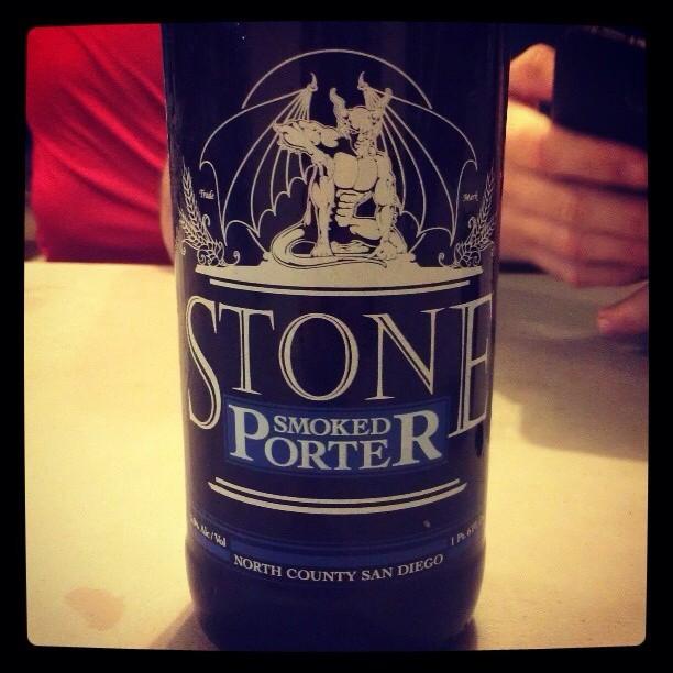 Stone Smoked Porter vía @giux13 en Instagram