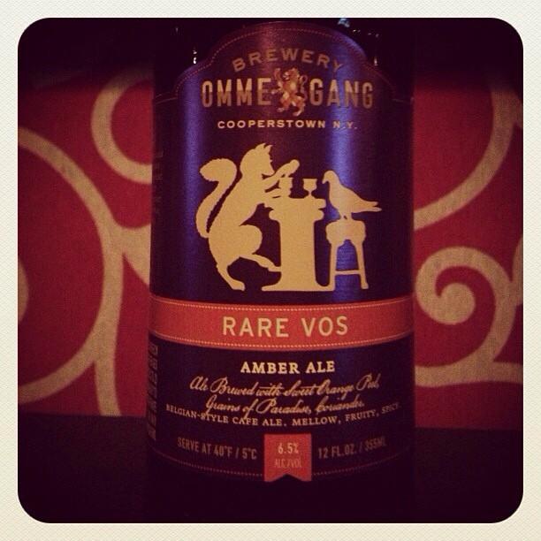 Omme Gang Rare Vos Amber Ale vía @msdedo en Instagram