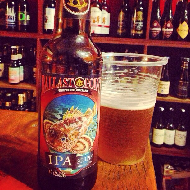 Ballast Point Sculpin IPA vía @brewmaniac en Instagram