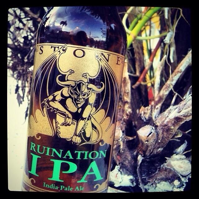 Stone Ruination IPA vía @lornajps en instagram