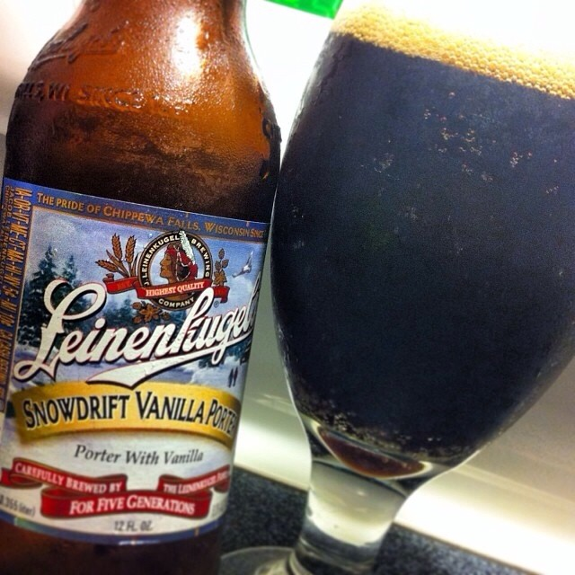 Leinenkugel's Snowdrift Vanilla Porter vía @apaman8 en Instagram