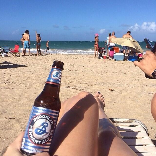 Brooklyn Pennant Ale vía @sunnygirlpr en Instagram