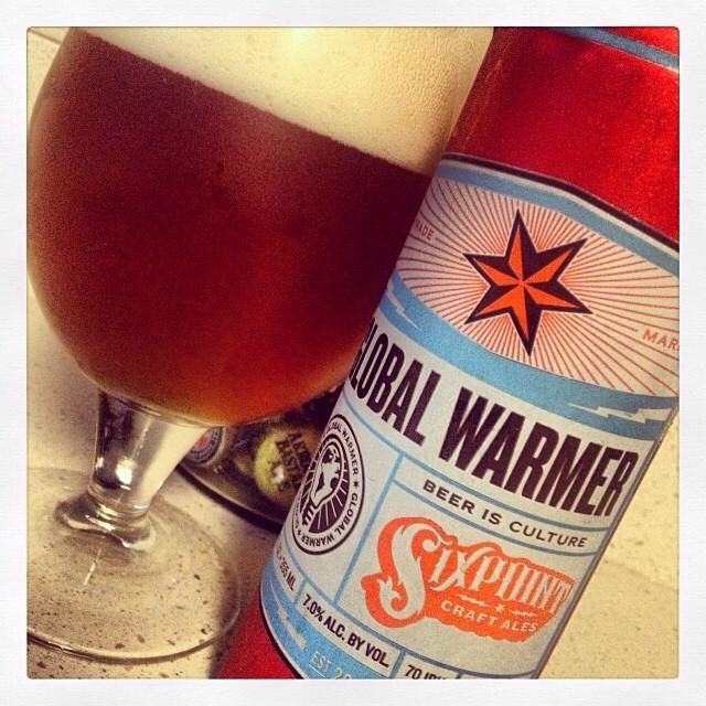 Sixpoint Glogal Warmer - Red/Amber Ale vía @thecraftbeergal en Instagram