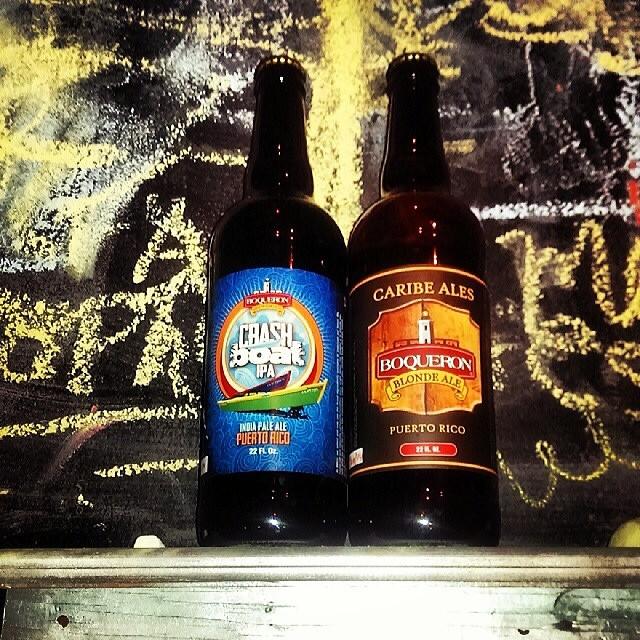 Crash Boat IPA y Blonde Ale de Boquerón Brewing vía @theattic_craftpub en Instagram