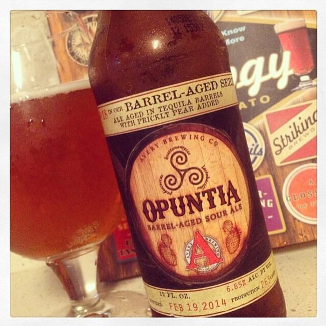 Opuntia Barrel Aged Sour Ale vía @thecraftbeergal en Instagram