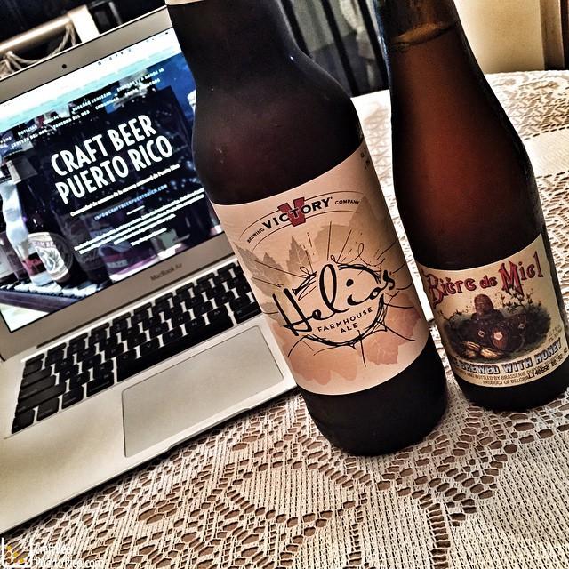 Victory Helios y Dupont Biere de Miel
