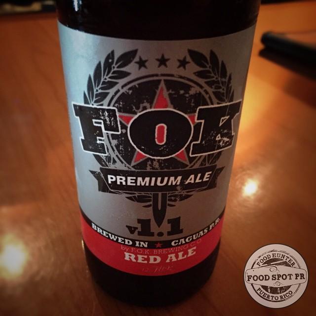 FOK Brewing Red Ale vía @foodspotpr en Instagram