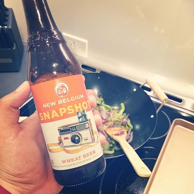 New Belgium Snapshot Wheat Beer vía @izqrdo en Instagram