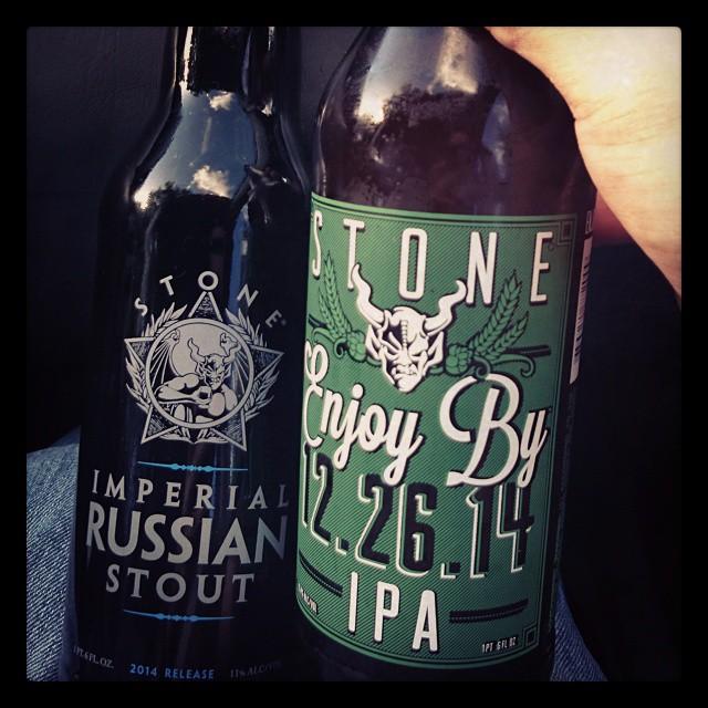 Stone Imperial Russian Stout y Enjoy By 12.26.14 vía @adejesus80 en Instagram