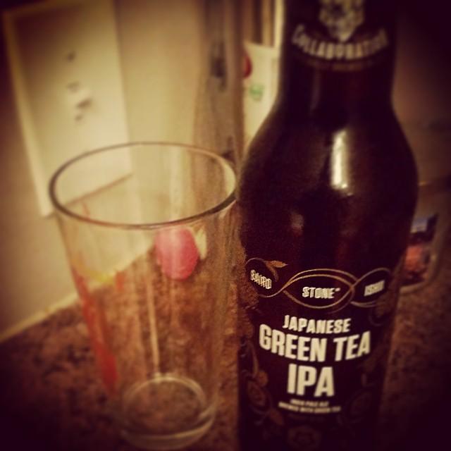 Stone/Baird/Ishii Japanese Green Tea IPA vía @craftbeerpro en Instagram