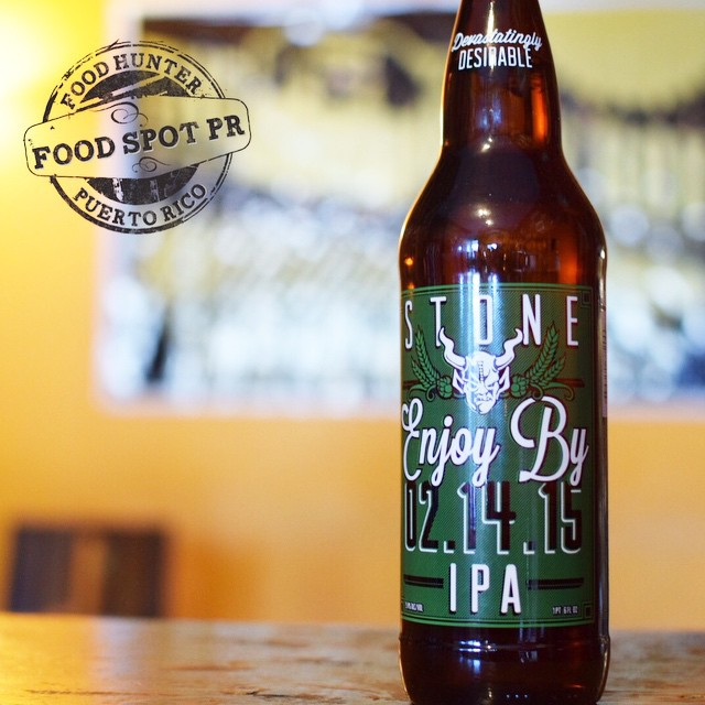 Stone Enjoy by 02.14.15 vía @foodspotpr en Instagram