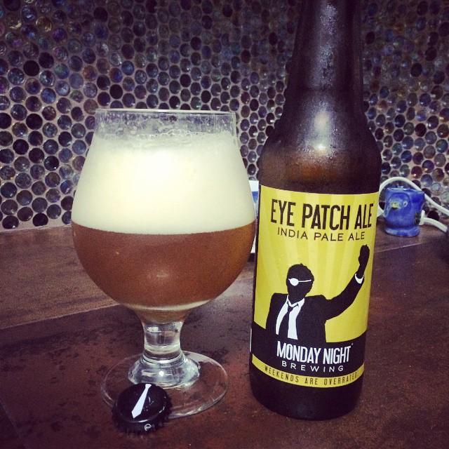 Monday Night Brewing Eye Patch IPA vía @ramonesbrew en Instagram