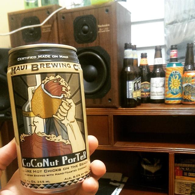 Maui Brewing Coconut Porter vía @z32pr en Instagram