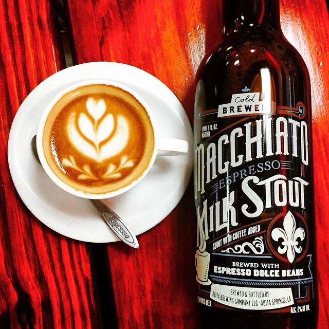 Abita Macchiato Espresso Milk Stout vía @shell65infanteria en Instagram