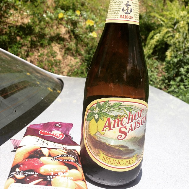 Anchor Saison Spring Ale vía @lmv30 en Instagram