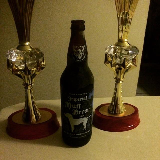 Stone Imperial Mutt Brown Ale vía @abdielopr11 en Instagram