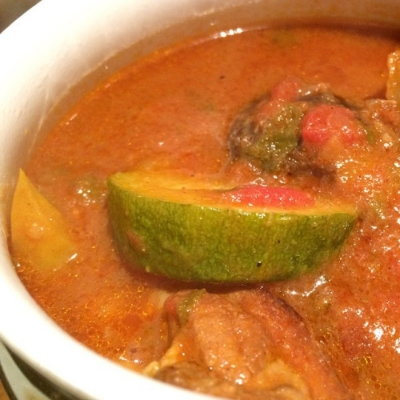 Moroccan-style lamb and tomato stew