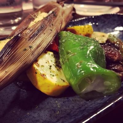 Seasonal vegetables platter