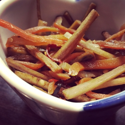 Simmered burdock and carrot