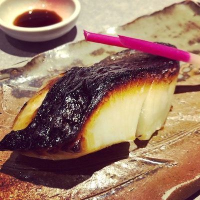 Grilled yellow tail
