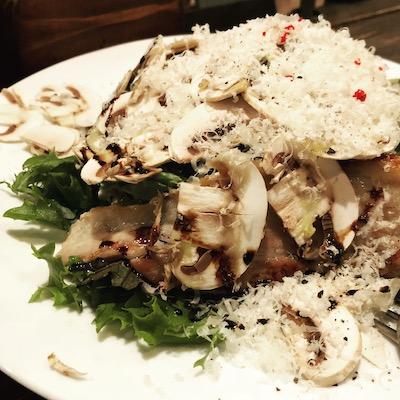 Shizuoka mushroom and ham Caesar salad