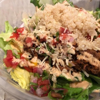 Beer-stewed pork and quinoa salad